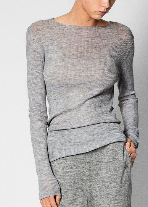 Bluse Madigan grey melange - Aiayu