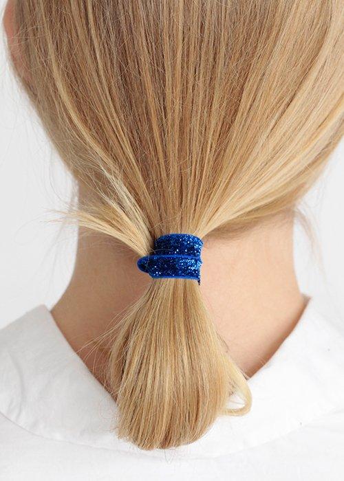 Hårelastik sparkling blue