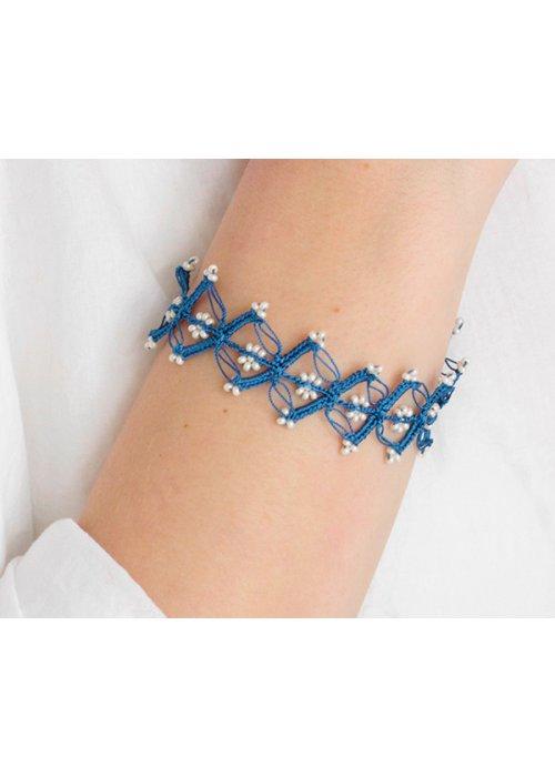 Armbånd vintage garland blue