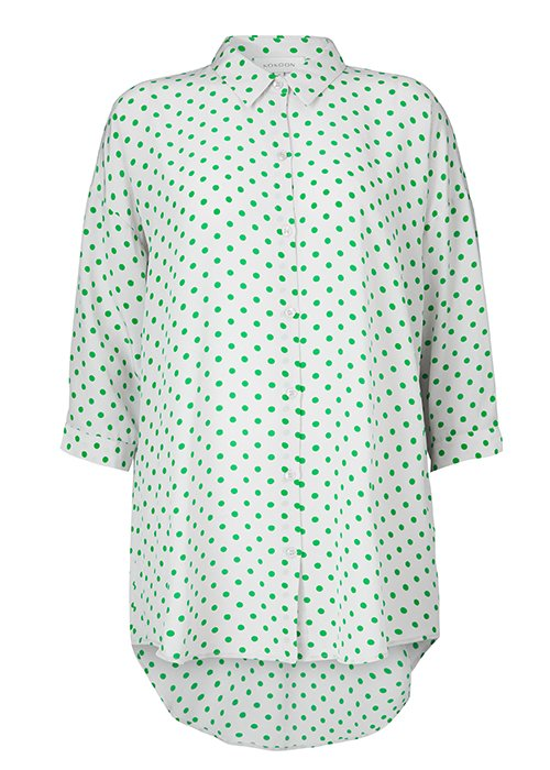 Skjorte Bianca green dot - Kokoon