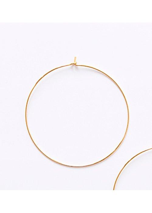 Creolere guld 5 cm - Plissé Copenhagen