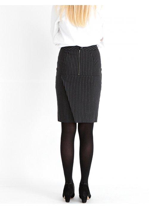 Sola nederdel college stripe - Graumann