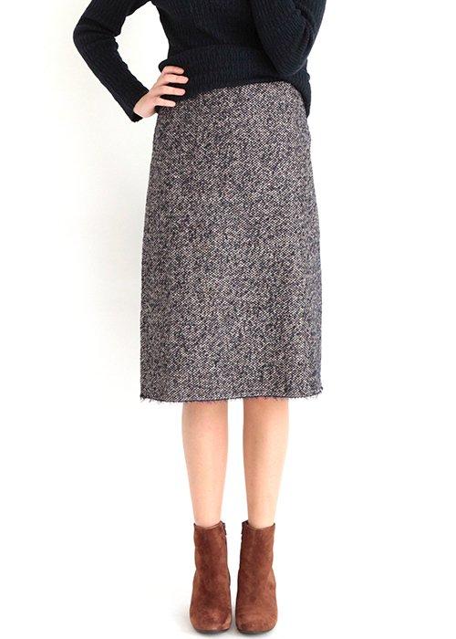 Vigga tweed nederdel - Graumann