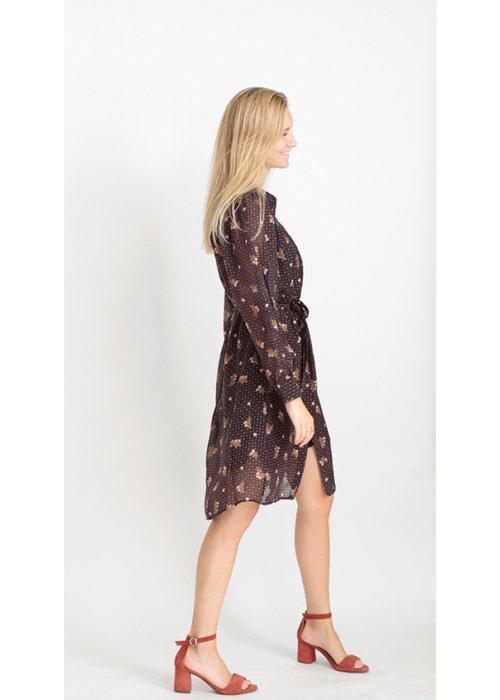 Midi dress silk flower - Graumann