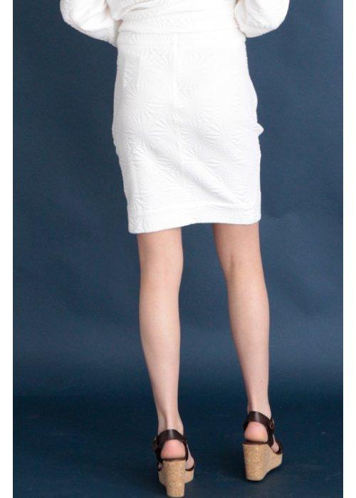 Elsa sweat skirt hvid - Graumann