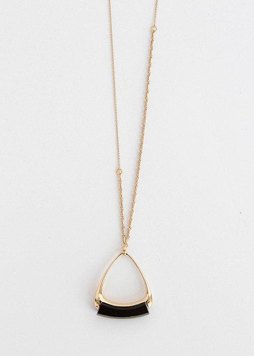 Halskæde triangle pendant onyx - Helena Rohner
