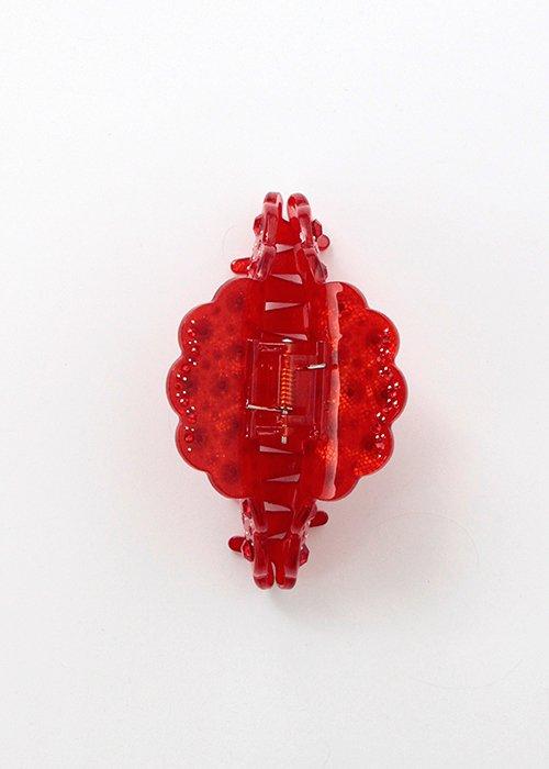 Hårklemme m. krystaller rød