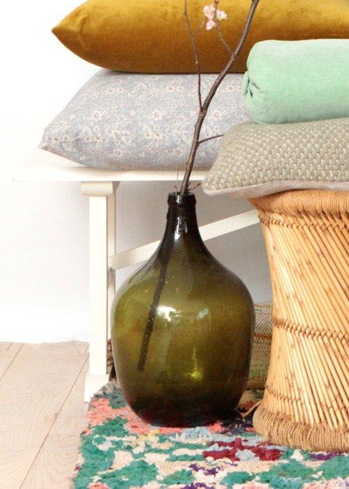 Stor glasvase grøn - Housedoctor