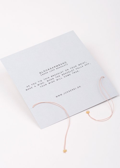 Good luck lupe silke armbånd - Jukserei