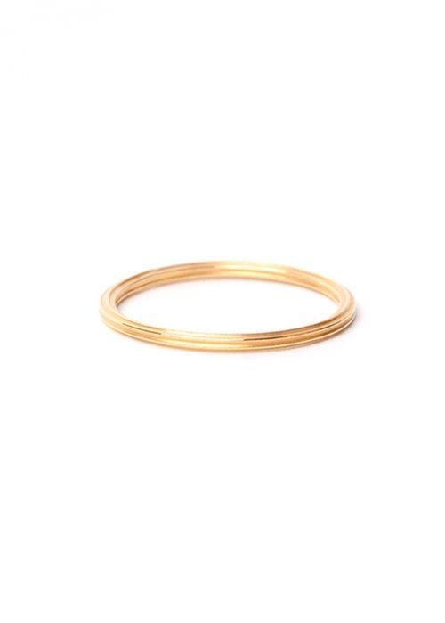 Rille ring guld - Jukserei
