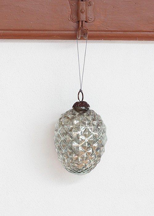 Sølvkogle glas