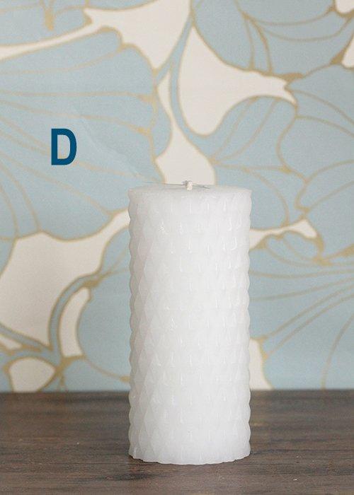 Rhomb bloklys ø7 x 14 cm - Broste