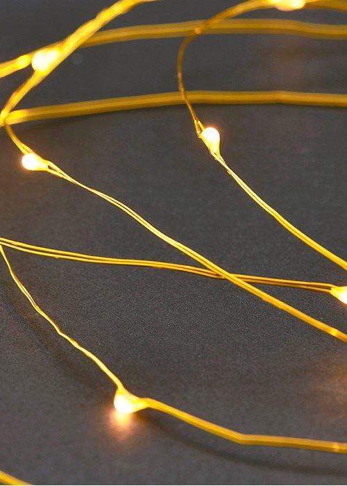 Lyskæde messing string 10 mtr. - Housedoctor UDSOLGT