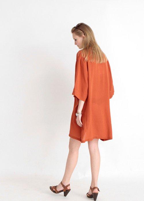 Cole dress burnt orange - Kokoon