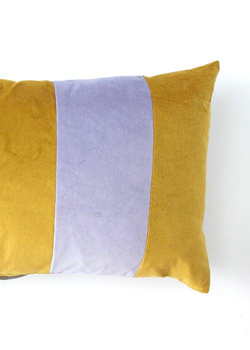 Stripe velvet dusty lilac/golden olive - Christina Lundsteen