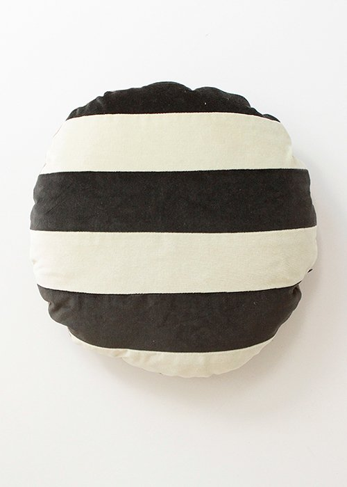 Pude ø45 stripe pearl/dark grey - C. Lundsteen