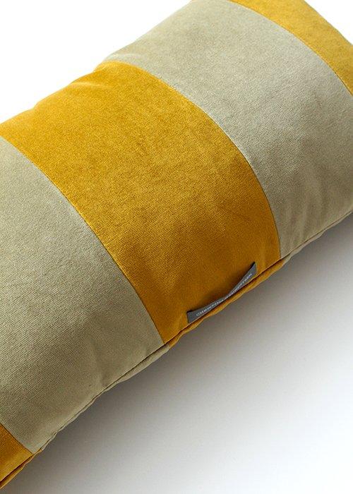 Stripe velvet dusty green/golden olive - Christina Lundsteen