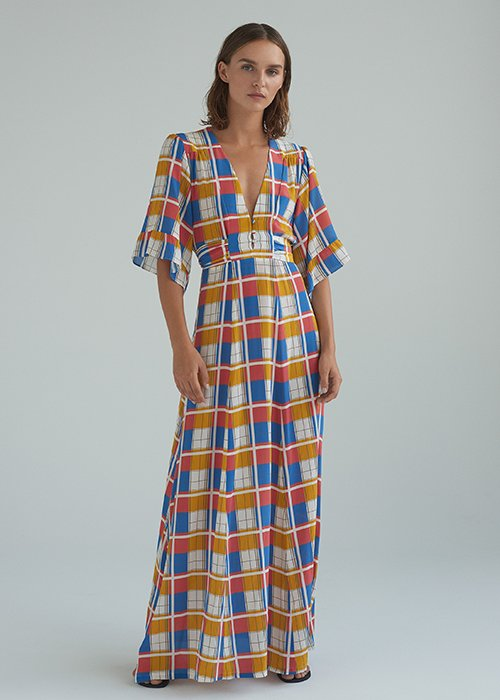 Maxi dress check print - The Sophie