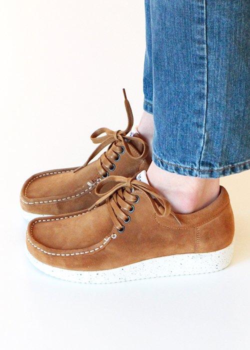 Anna sko ruskind toffee - Nature