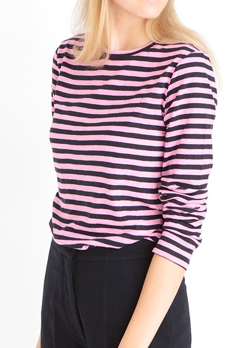 T-shirt Paris navy/pink - Nué Notes