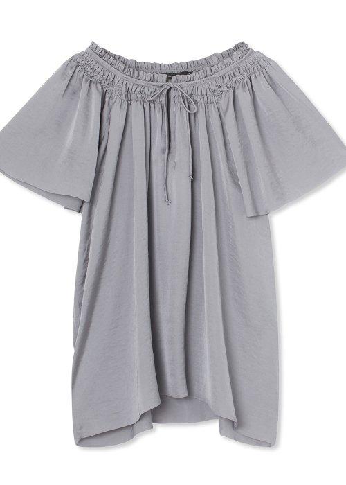 Top Nynne soft plissé grey - Graumann