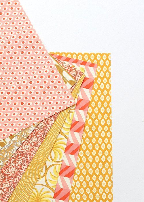 Håndlavet DIY papir (sæt af 8 ark) - Bungalow