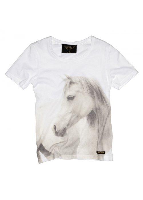 Nikki white horse tee - Finger in the Nose