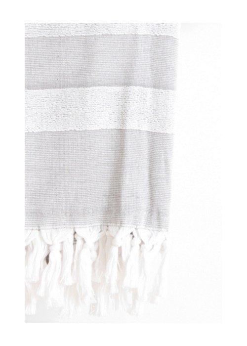 Hammam håndklæde m. frotté Sort