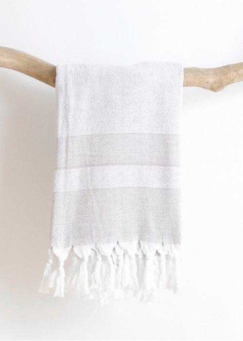 Hammam håndklæde m. frotté Grå