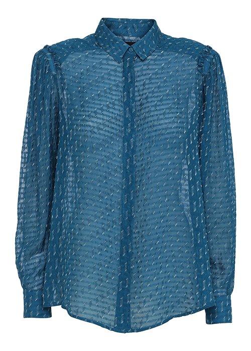 Silkeskjorte aqua - Birgitte Herskind