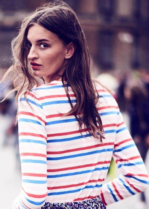 T-shirt paris blue/red/softice - Nué Notes