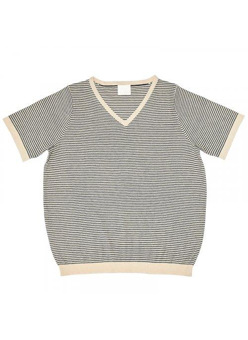 bae3de2a2d8 T-shirt stribet ecru/navy - FUB