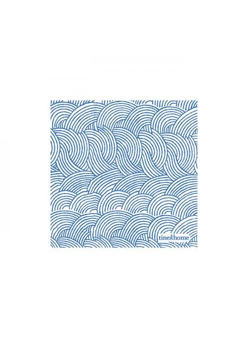 Papirservietter mini m. bølgeprint azul - Tine K Home
