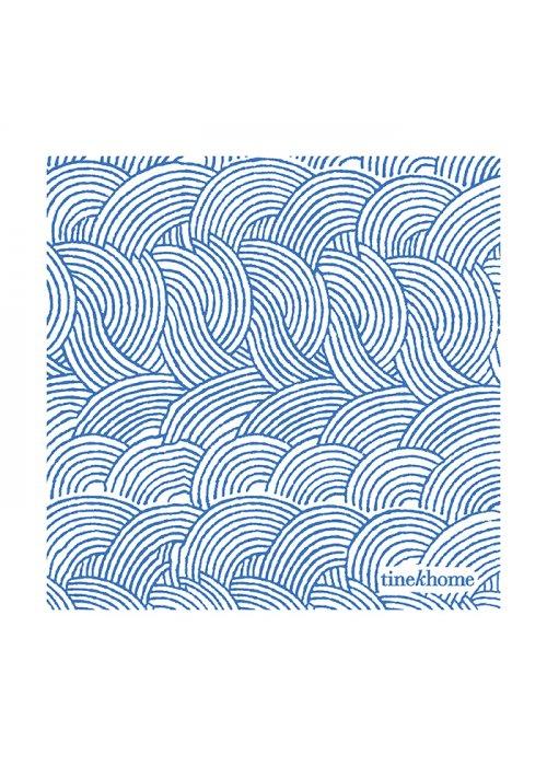 Papirservietter stor m. bølgeprint azul - Tine K Home